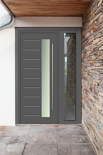 Aluminium Front Entrance Door in Anthracite Grey Colour