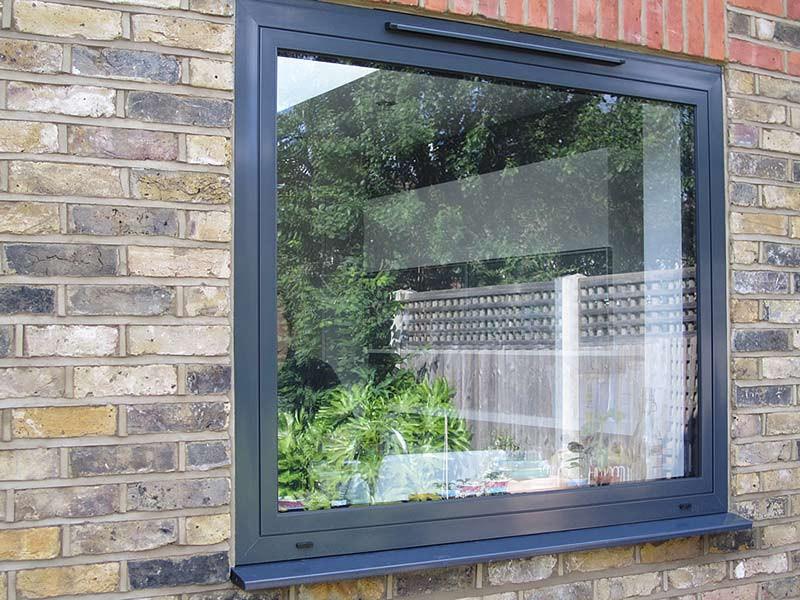 Admiral Windows Oxford anthracite grey aluminium window