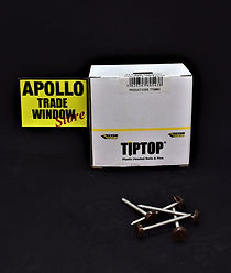 TIPTOP plastic headed nails and pins 50mm black