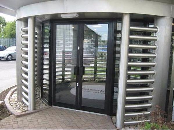 Aluminium Commercial Doors in Anthracite Grey Colour