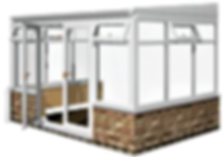 White Lean-to Conservatory Pack Adjusted
