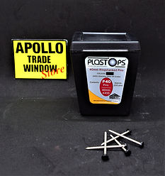 Plastostop 40mm ringshanked pins black