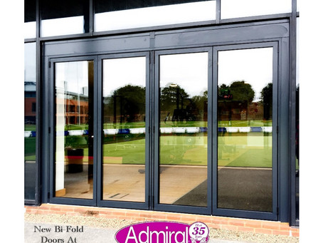 New Aluminium Bi-Fold Doors At Abingdon School Installed By Admiral Windows.
