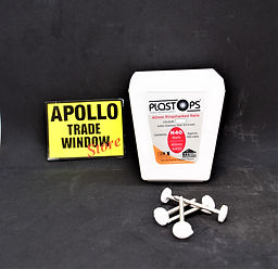 Plastostop 40mm ringshanked nails white