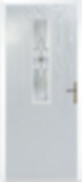 Light Grey Composite Door with Glazing w