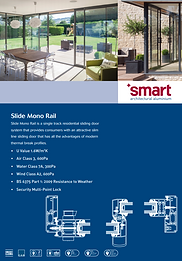 SMART Aluminium Sliding Patio Doors Slide Mono Rail Series Brochure