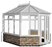 White Victorian Conservatory Pack Adjust