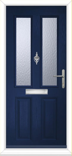 Composite Door Offer £450 plus VAT the door is with two panels of obscure glass, chrome handle, letter box and a knocker