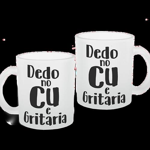Caneca Dedo no Cu - Vidro Jateado