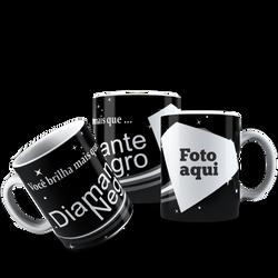 CANECA DIAMANTE NEGRO COM FOTO 001