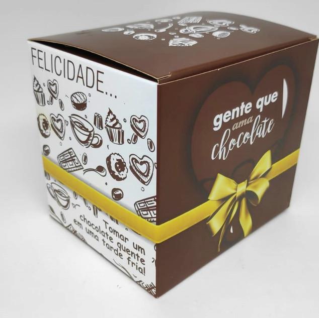 Caixinha para Caneca Ama Chocolate