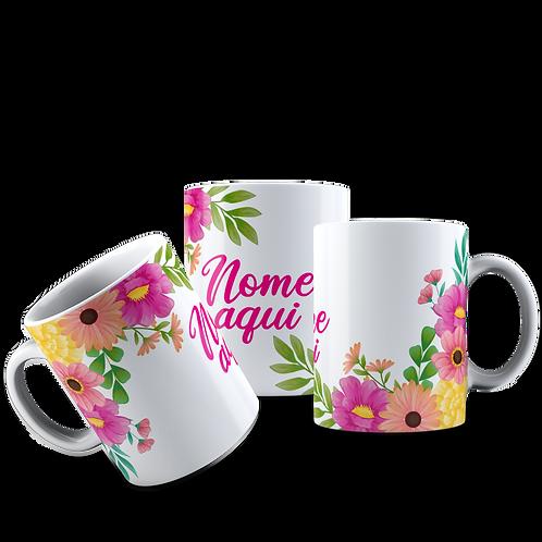 Caneca Flores 0011