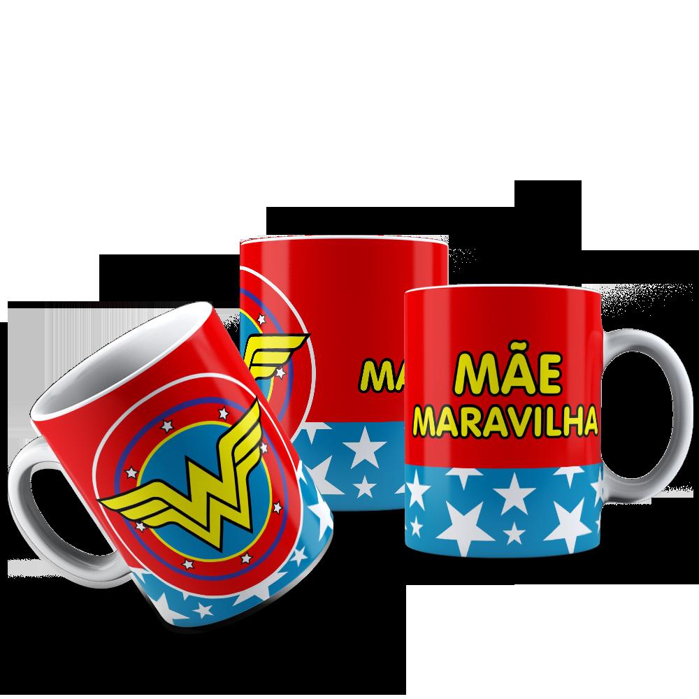 CANECA MÃE - MULHER MARAVILHA 001