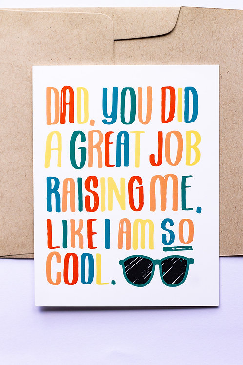 Great Job Dad Greeting Card
