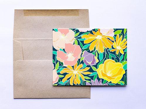 Bright Botanicals Greeting Card