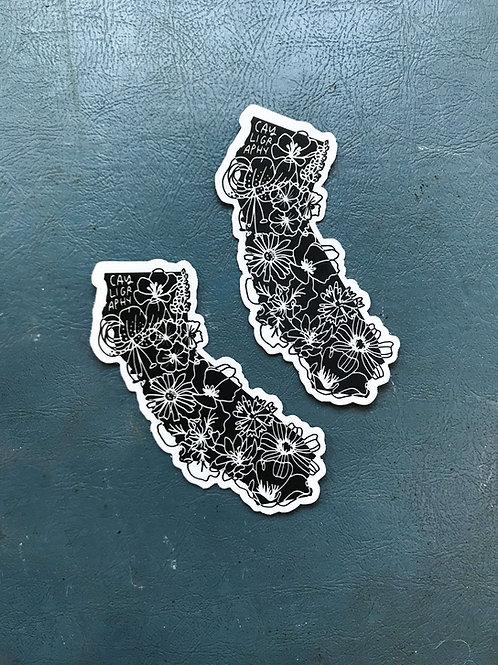 California Native Botanicals Vinyl Sticker