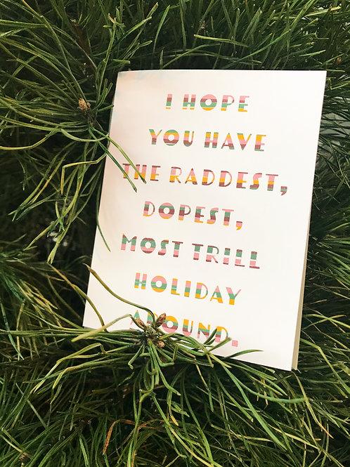 Raddest Holiday Greeting Card