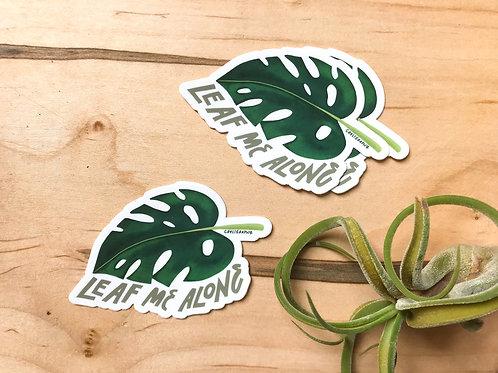 Leaf Me Alone Vinyl Sticker