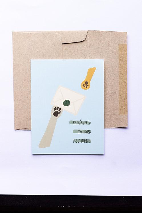 Pawsing Greeting Card