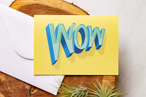 Wow Greeting Card