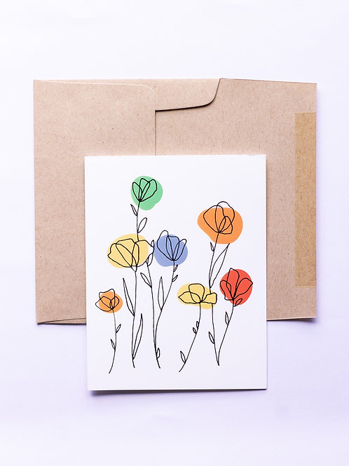 Neutral Floral Greeting Card