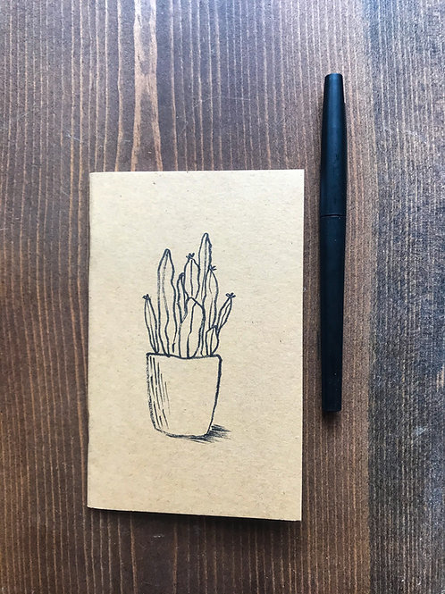 Fairy Garden Cactus Pocket Notebook
