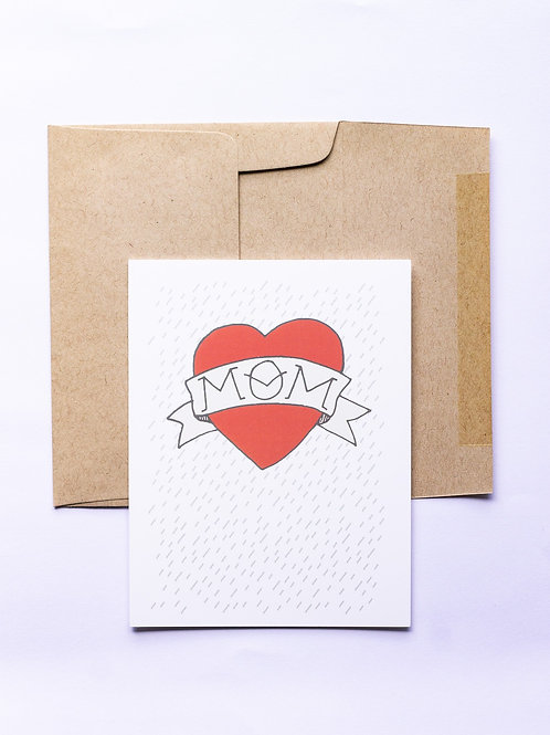 Tattoo Mom Greeting Card