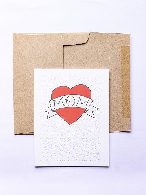 Tattoo Mom Greeting Card