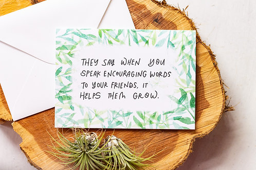 Encouraging Plant Friends Greeting Card