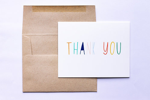 Simple Thank You Greeting Card