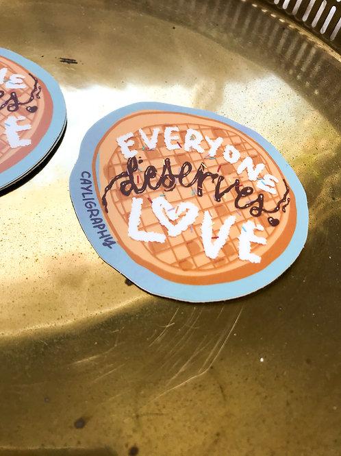 Waffle Love Vinyl Sticker