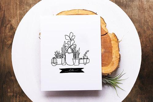 Hello Plants Print
