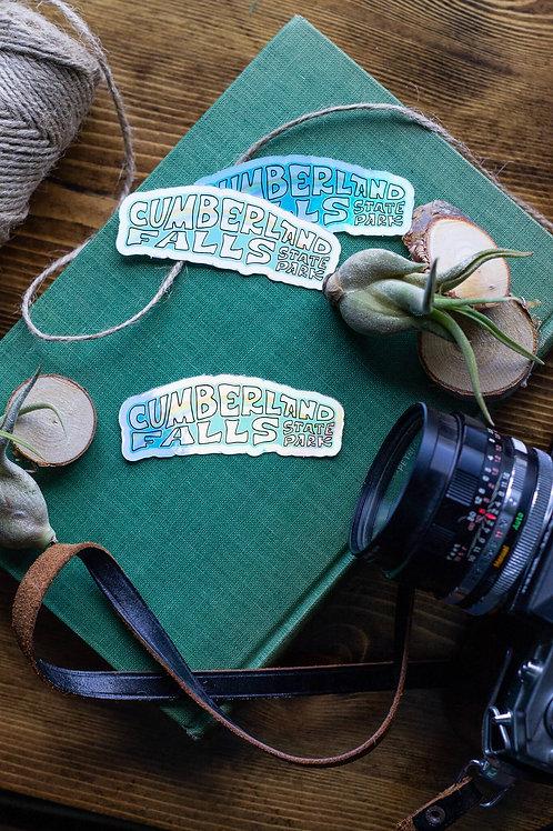 Cumberland Falls State Park Holographic Vinyl Sticker
