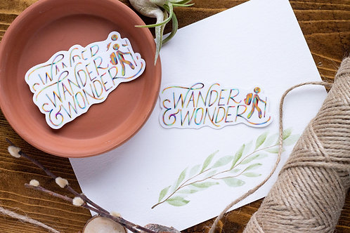 Wonder & Wander Vinyl Sticker