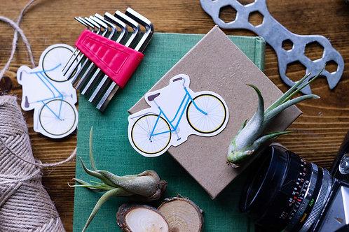 Blue Schwinn Bike Vinyl Sticker
