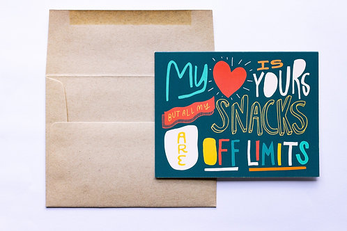 Snacks Greeting Card