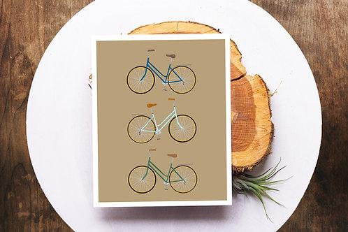 Three's A Party Bike Print