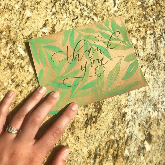Remember those leaves I was practicing last post_ I made them into a thank you card! I love the look of watercolor and black ink.jpg