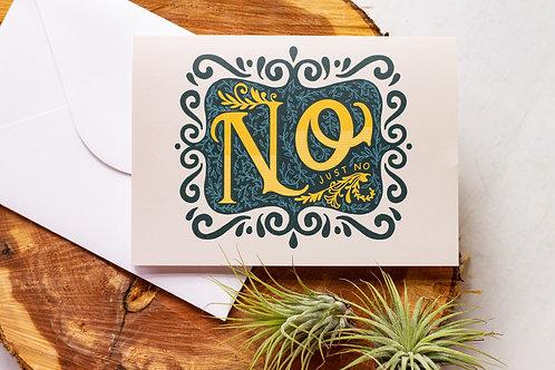 Just No Greeting Card