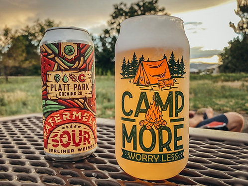 18 oz. Personalized Camp More Beer Glass