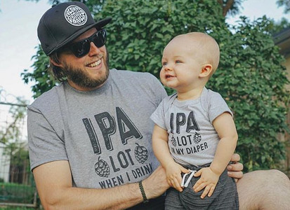 Best buds Reppin' that IPA craft beer st