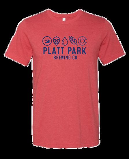 Platt Park Brewing Co. Tee - Heather Red