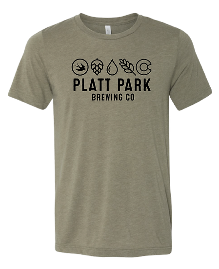 Platt Park Brewing Co. Tee - Heather Olive