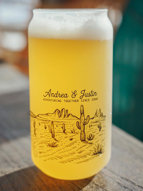 18 oz. Personalized Weekend in the Desert Beer Glass