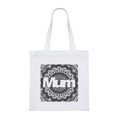 'Mum' Zentangle Colour Yourself Shopping Bag