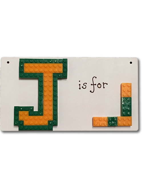 Lego Personalsied Monogram Door Plate