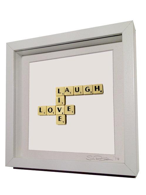 'Live Love Laugh' Framed Scrabble Artwork