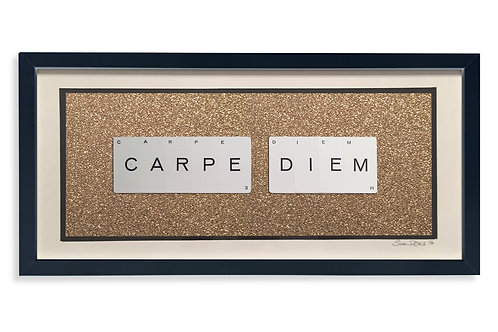 'Carpe Diem' Framed Vintage Playing Card Artwork