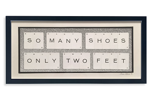 'So Many Shoes Only Two Feet' Framed Vintage Playing Card Artwork