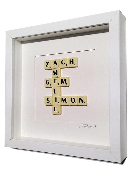 Personalised Framed Scrabble Artwork